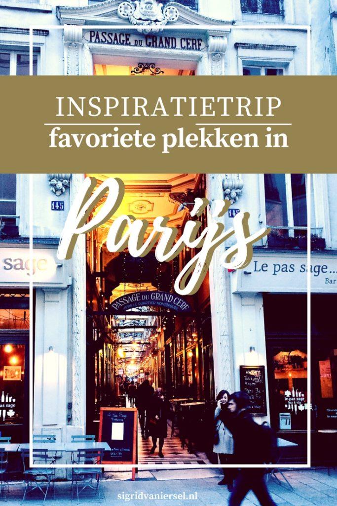 Inspiratie in Parijs favoriete plekken
