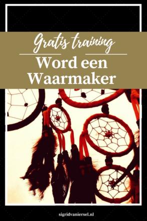Word een Waarmaker - gratis training ideeën uitvoeren