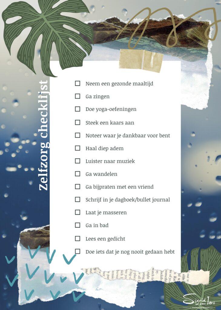 Zelfzorg checklist