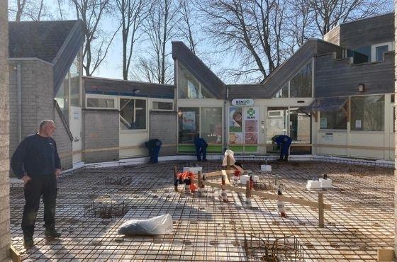 Vlechtwerk gereed gezondheidscentrum in Middelburg