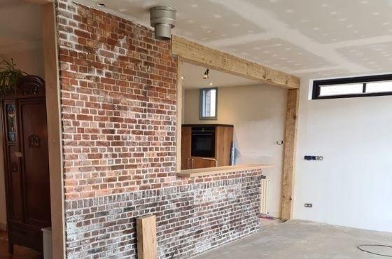 Balk constructie keuken