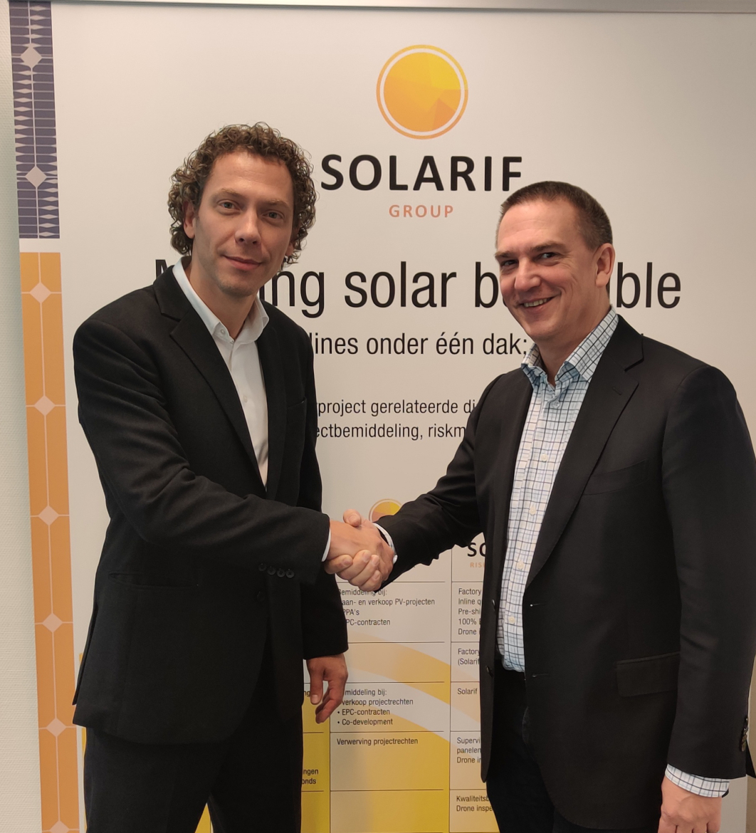 Dricus de Rooij (MD, Sinovoltaics) and Harry Wolkenfelt (CEO, Solarif)