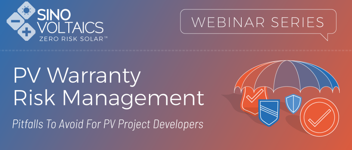 Webinar: PV Warranty Risk Management