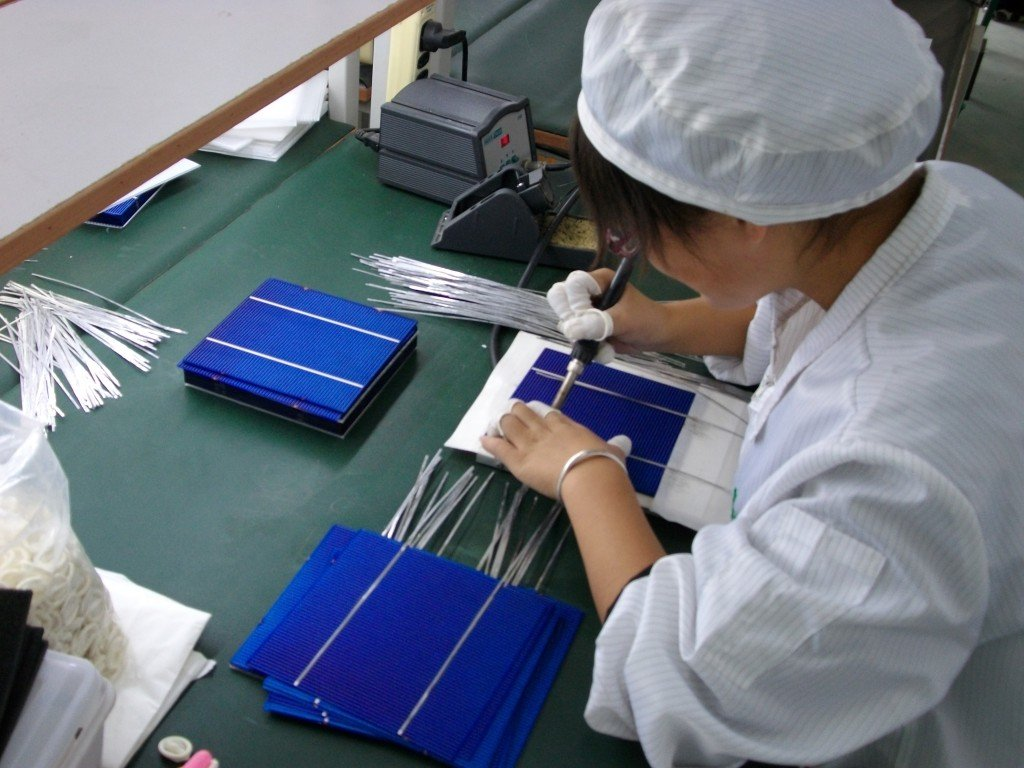 Solar cell soldering