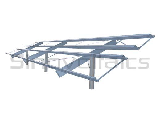 Solar ground mount rack