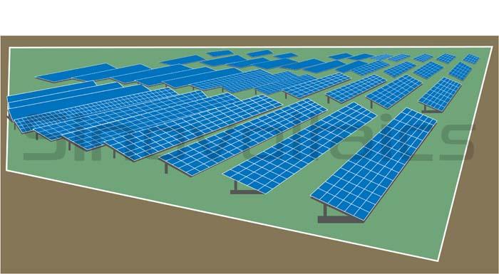 Bifacial solar panels - ground installation