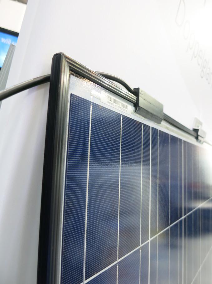 BYD solar module with new silicon gel encapsulant (no EVA)