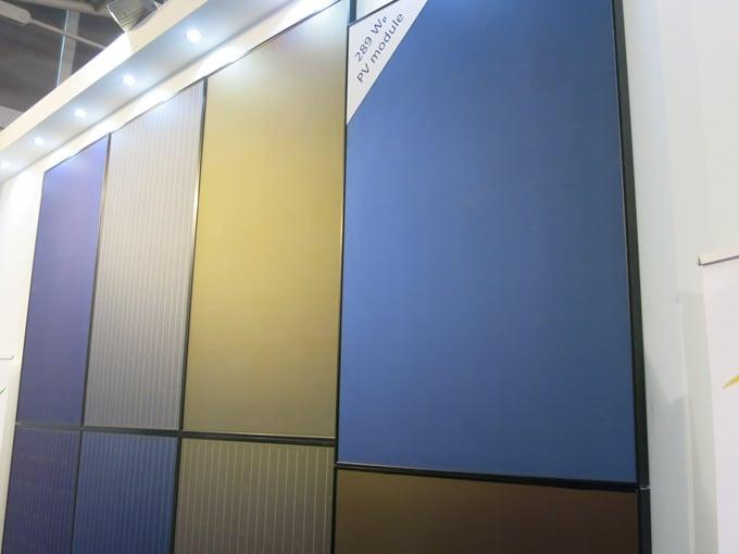 Kromatix colored solar panel at Intersolar Munich 2015