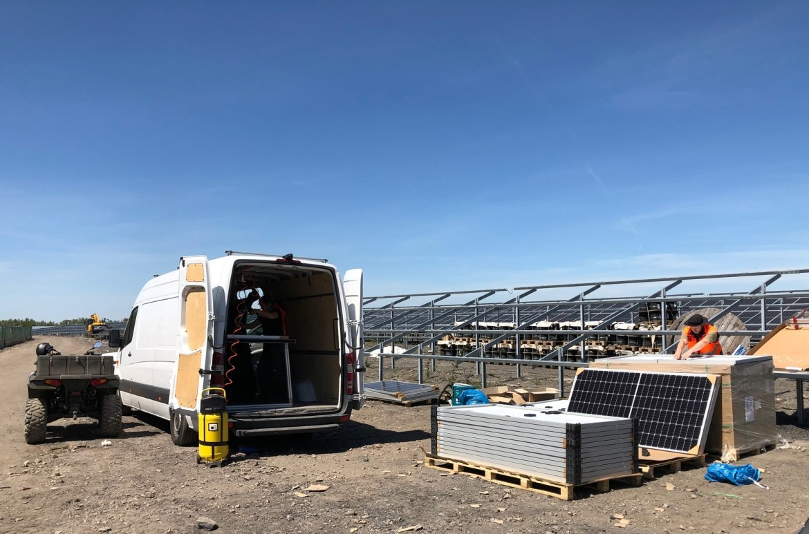 TRAPS in-situ re-fitting at solar PV plant