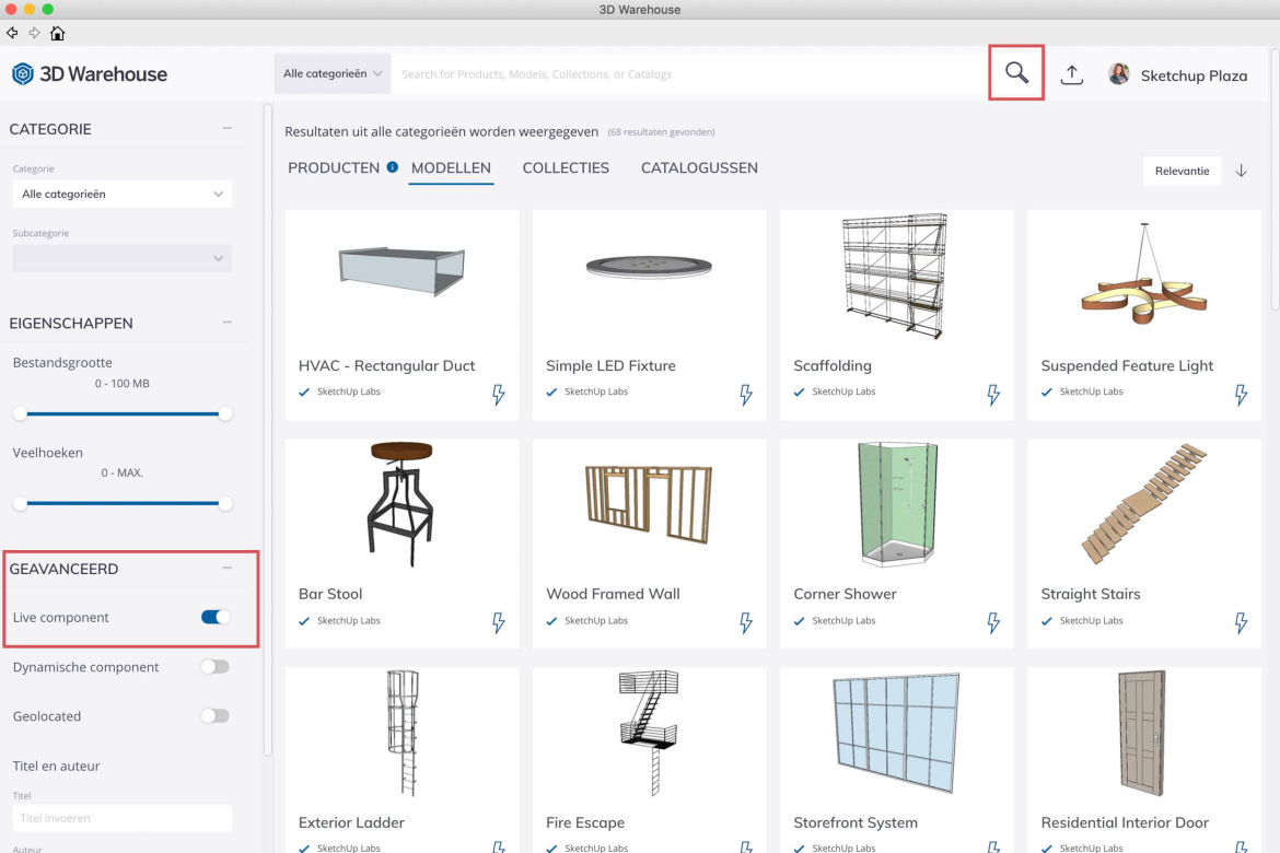 Live Components in SketchUp 2021