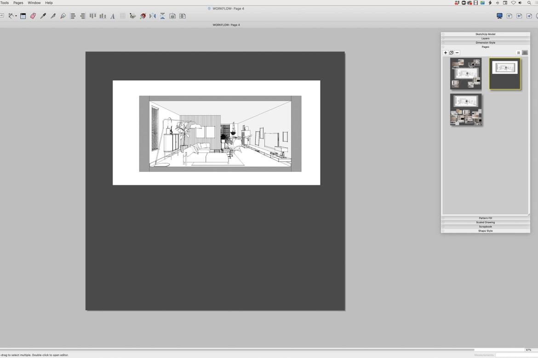 Moodboard maken in LayOut SketchUp