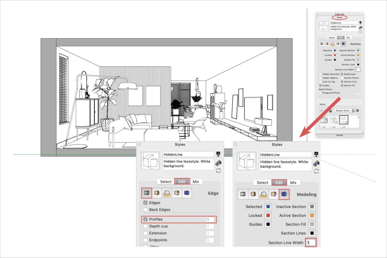 SketchUp Layout workflow moodboard maken