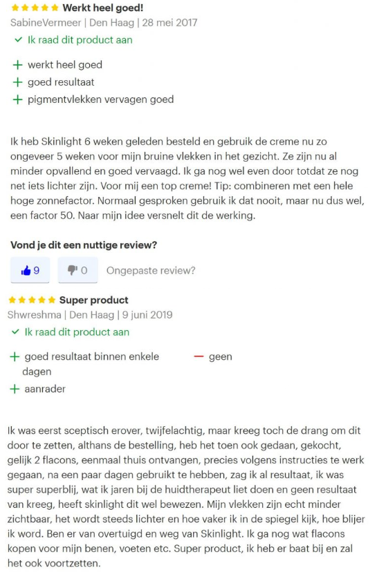 reviews skinlight