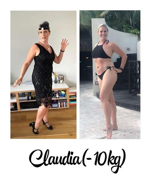 voor- en na foto 10 kilo afgevallen