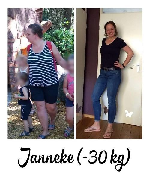 voor- en na foto 30 kilo afvallen