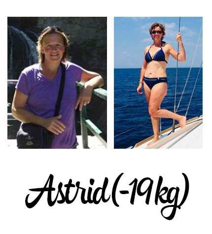 voor- en na foto bikini afvallen