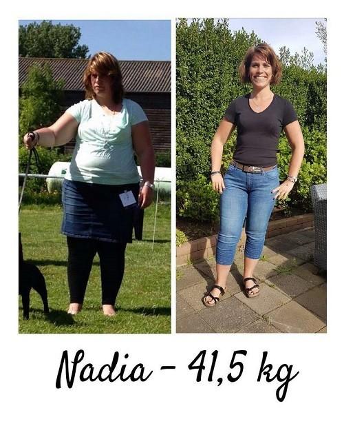 voor- en na foto 40 kilo afvallen
