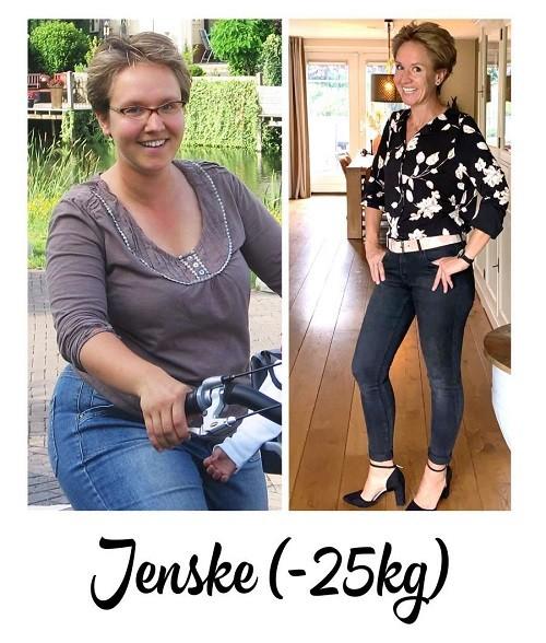 voor- en na foto 25 kilo afvallen