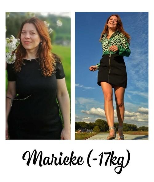 voor- en na foto 17 kilo afvallen