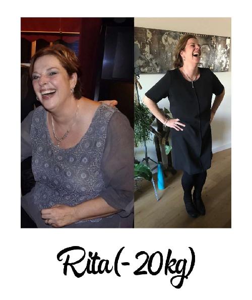 voor- en na foto 20 kilo afvallen