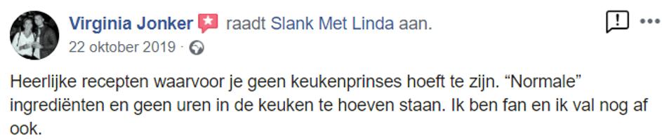 Review koolhydraatarm boek Slank met Linda