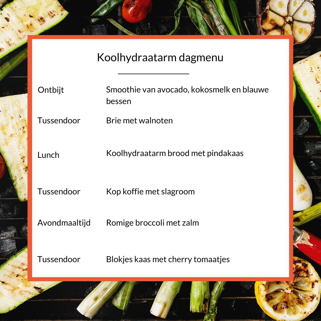 dagmenu ketose dieet