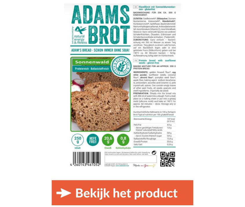 Koolhydraatarm glutenvrij brood