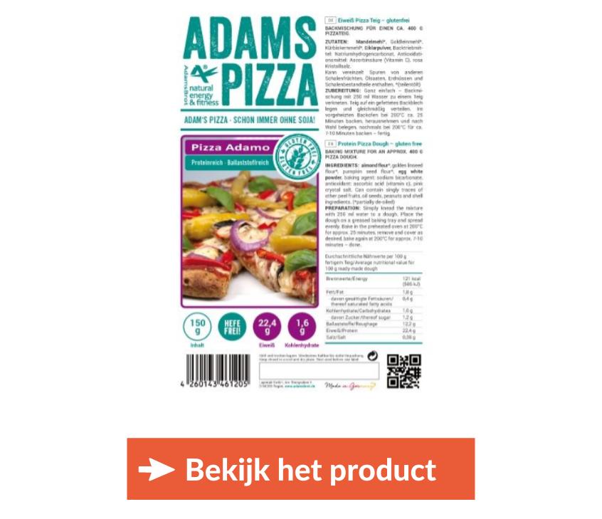 koolhydraatarme pizza kopen Adams
