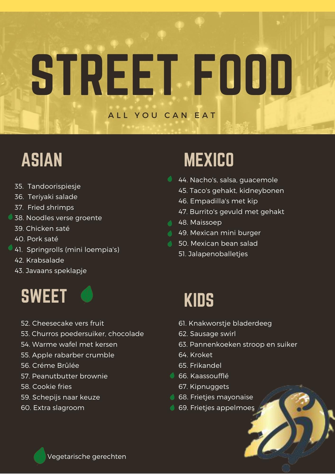 Smaakidee restaurant menu 2