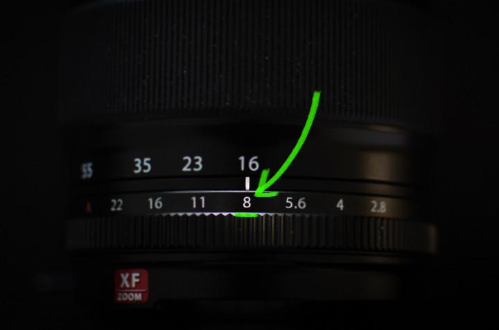 Camera instellingen studiofotografie - Diafragma