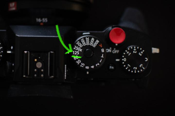 Camera instellingen studiofotografie - Sluitertijd