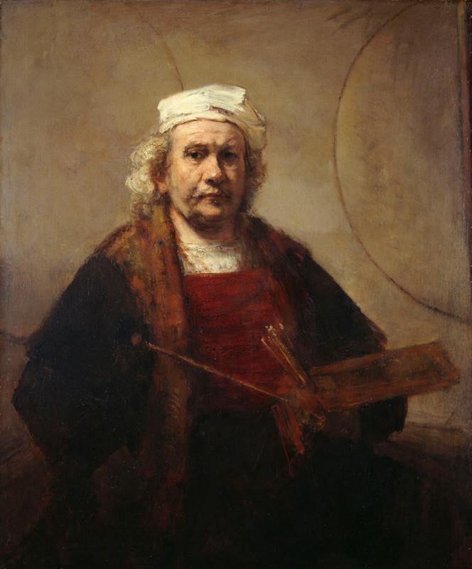 Rembrandt licht - zelfportret Rembrandt van Rijn op latere leeftijd
