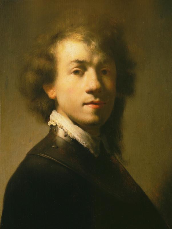 Rembrandt licht - zelfportret Rembrandt van Rijn op jonge leeftijd