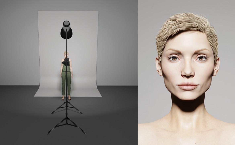 Studiofotografie opstelling lampen - Vlinder