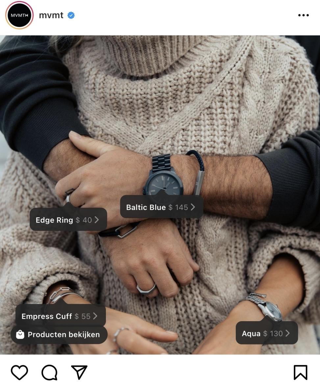 Producten taggen Instagram Shopping