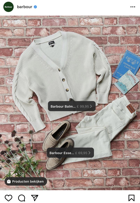 Voorbeeld Instagram Shopping