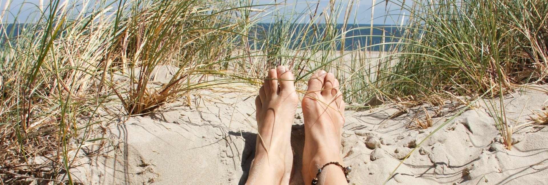 contact leggen vanaf de duinen van texel