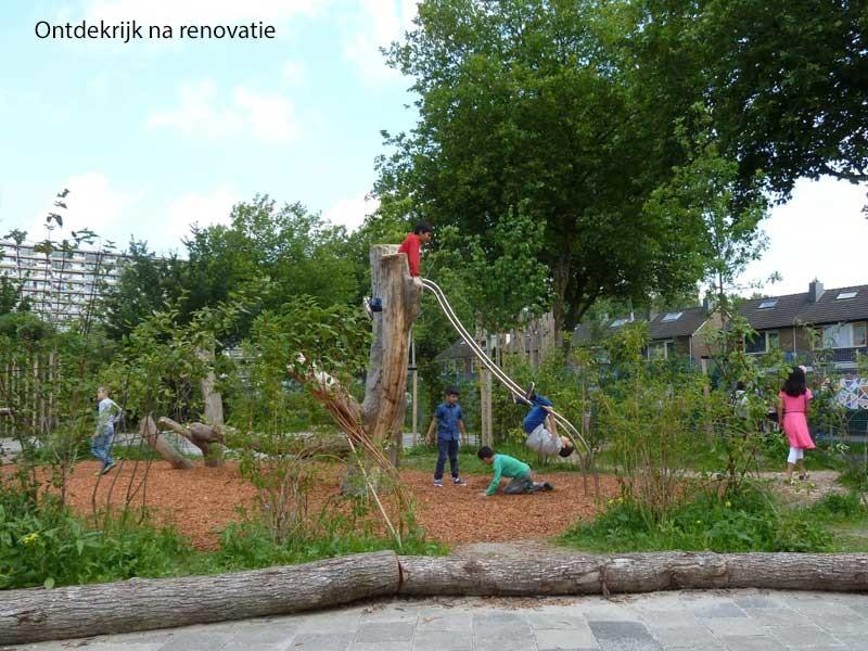 klimtoestel groen schoolplein