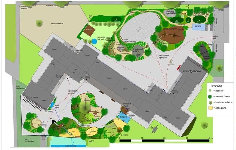 groen schoolplein ontwerp