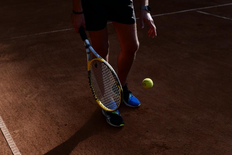 versleten tennisracket