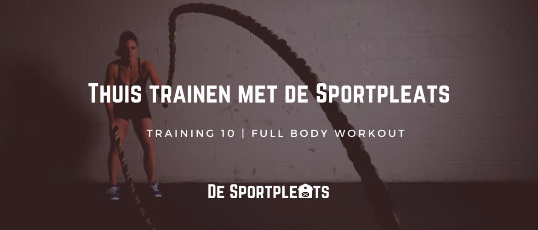 Thuis trainen met de Sportpleats nr. 10 | Full body workout met een bal