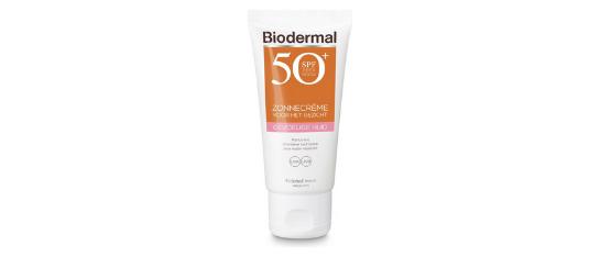 Biodermal Zonnebrandcrème gezicht gevoelige huid SPF 50+