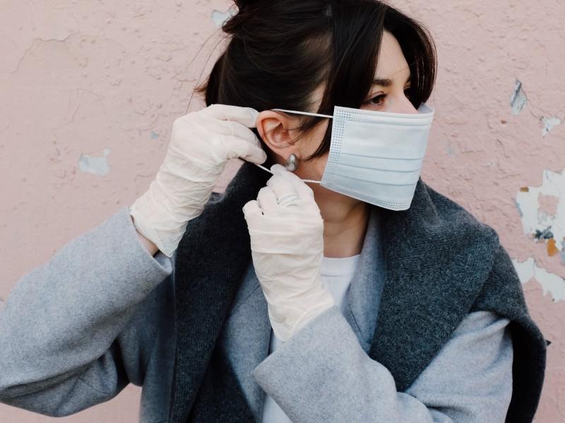 Puistjes door mondmasker