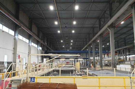 Beton fabriek led verlichting