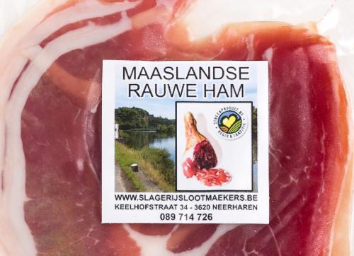 Maaslandse boerenhesp gesneden
