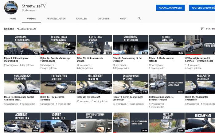 Rijschool Streetwize YouTube kanaal