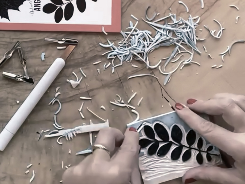 zelf lino stempels maken