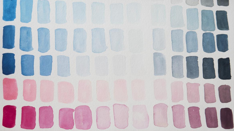 kleuren mengen in aquarelverf