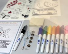 Krimp kunst Starterskit workshop in een doosje