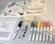 krimp kunst glans met permanent markers